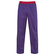 Buy Calvin Klein Woven Cotton Mini Print Lounge Pants, Blue Online at johnlewis.com