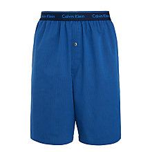 Buy Calvin Klein Haines Cotton Woven Stripe Pyjama Shorts, Blue Online at johnlewis.com