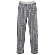 Buy Calvin Klein Stewart Woven Cotton Plaid Lounge Pants, Grey Online at johnlewis.com