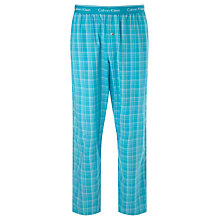 Buy Calvin Klein Forest Check Pyjama Bottoms, Blue Online at johnlewis.com