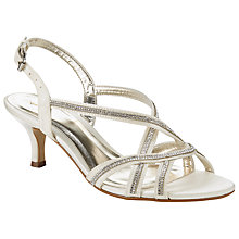 Buy John Lewis Glamour Kitten Heel Occasion Court Shoes, Cream Satin Online at johnlewis.com