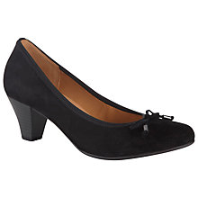 Buy Gabor Melton Block Heeled Court Shoes, Black Suede Online at johnlewis.com