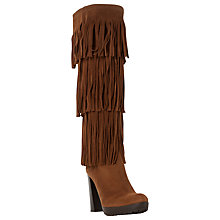 Buy Dune Stetson Block Heeled Fringe Detail Knee Boots Online at johnlewis.com