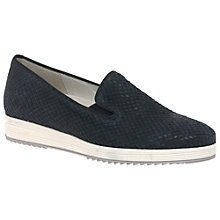 Buy Gabor Editor Wide Fitting Slip On Trainers, Night Blue Leather Online at johnlewis.com