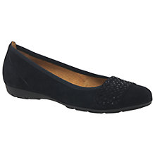 Buy Gabor Active 2 Slip On Pumps, Pacific Suede Online at johnlewis.com