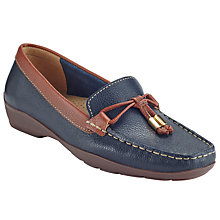 Buy John Lewis Gela Moccasins, Navy Leather Online at johnlewis.com