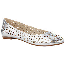 Buy John Lewis Cut Out Ballerina Pumps, Silver Online at johnlewis.com