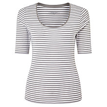 Buy John Lewis Scoop Neck Half Sleeve Stripe T-Shirt Online at johnlewis.com