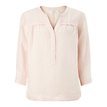 Buy John Lewis Gathered Front Linen Blouse Online at johnlewis.com
