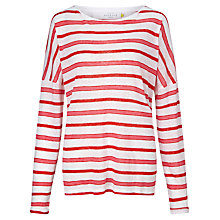 Buy Collection WEEKEND by John Lewis Tonal Stripe Linen Top Online at johnlewis.com