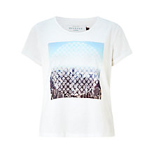 Buy Collection WEEKEND by John Lewis Summer Print Slub Cotton T-Shirt, White Online at johnlewis.com
