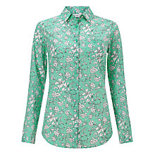 Buy John Lewis Linear Floral Print Shirt, Green Online at johnlewis.com