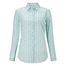 Buy John Lewis Ditsy Stripe Shirt, White/Green Online at johnlewis.com
