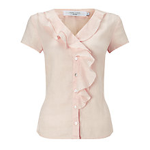 Buy John Lewis Linen Frill Blouse Online at johnlewis.com