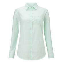 Buy John Lewis Gingham Check Shirt, White/Green Online at johnlewis.com