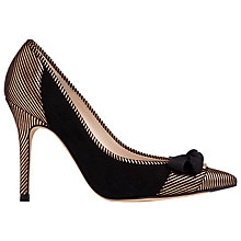 Buy L.K. Bennett Fleur High Heeled Stiletto Court Shoes, Rose Gold Suede Online at johnlewis.com