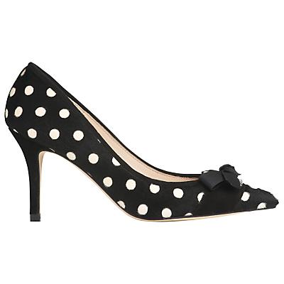 L.K. Bennett Irene Bow Detail Court Shoes BlackWhite Pony £250.00 AT vintagedancer.com
