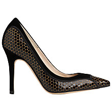 Buy L.K. Bennett Zuri Patent Leather Court Shoe, Gold Online at johnlewis.com
