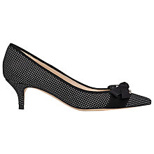 Buy L.K. Bennett Mickey Suede Court Shoes, Black Online at johnlewis.com