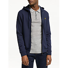 Buy Lyle & Scott Zip Through Sweater, Navy Online at johnlewis.com