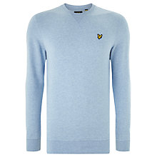 Buy Lyle & Scott Crew Neck Sweatshirt, Blue Marl Online at johnlewis.com
