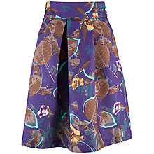 Buy Closet Floral Box Pleat Skirt, Multi Online at johnlewis.com