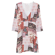 Buy Mango Flowy Printed Dress, Red Online at johnlewis.com