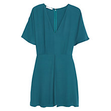 Buy Mango Flowy Dress, Emerald Green Online at johnlewis.com