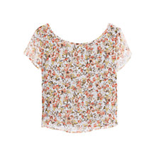 Buy Mango Flowy Floral Top, Ecru Online at johnlewis.com