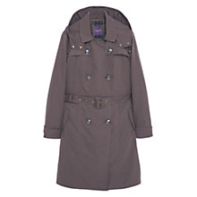 Buy Violeta by Mango Flowy Trench Coat, Medium Green Online at johnlewis.com