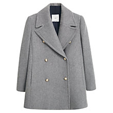 Buy Mango Double-Breasted Coat, Grey Online at johnlewis.com