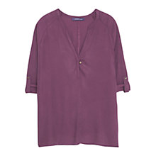 Buy Violeta by Mango Flowy Blouse, Light Pastel Purple Online at johnlewis.com
