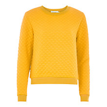 Buy Louche Jan Textured Jumper, Mustard Online at johnlewis.com