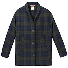 Buy Lee Wool-Blend Check Coat, Bronswick Green Online at johnlewis.com