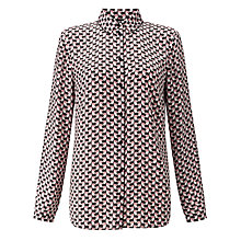 Buy Gerry Weber Printed Shirt, Off White/Rose Online at johnlewis.com