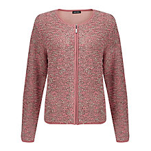 Buy Gerry Weber Zip Through Textured Knit, Sorbet/Taupe Online at johnlewis.com