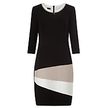 Buy Gerry Weber Colour Block Dress, Black Online at johnlewis.com