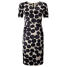 Buy Gerry Weber Spot Satin Dress, Black Online at johnlewis.com