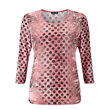 Buy Gerry Weber Spot Print Jersey Top, Pink Online at johnlewis.com