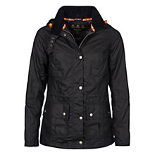 Buy Barbour Clove Hitch Wax Jacket, Navy Online at johnlewis.com