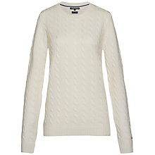 Buy Tommy Hilfiger Ivina Cable Knit Jumper Online at johnlewis.com
