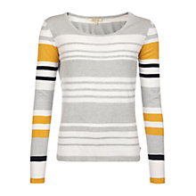 Buy Barbour Bowline Stripe Jumper, Silver Ice Online at johnlewis.com