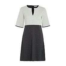 Buy Marella Bilbao Jacquard Dress, Cream/Navy Online at johnlewis.com