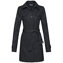 Buy Tommy Hilfiger Heritage Trench Coat, Caviar Online at johnlewis.com