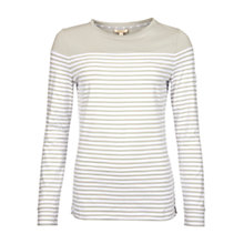 Buy Barbour Staithes Jersey Top, Silver Ice Online at johnlewis.com