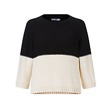Buy Marella Colourblock Sweater, Black Online at johnlewis.com