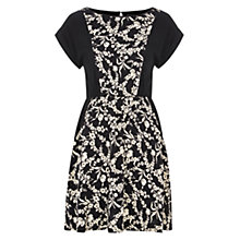 Buy Louche Cheryl Floral Contrast Dress, Black/Cream Online at johnlewis.com