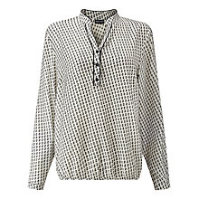 Buy Gerry Weber Printed Blouse, Off White/Black Online at johnlewis.com