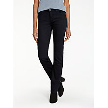 Buy Lee Marion Regular Waist Straight Leg Jeans, Black Rinse Online at johnlewis.com