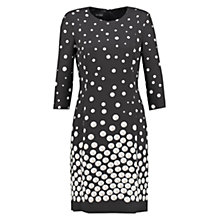 Buy Gerry Weber Pearl Print Dress, Black/Ecru Online at johnlewis.com